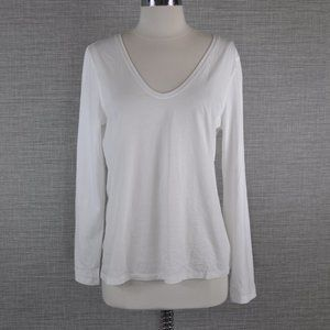 NWT Theory White Long Sleeve T Shirt - L